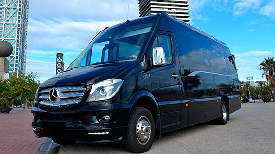 mercedes sprinter of the limousine rental in barcelona